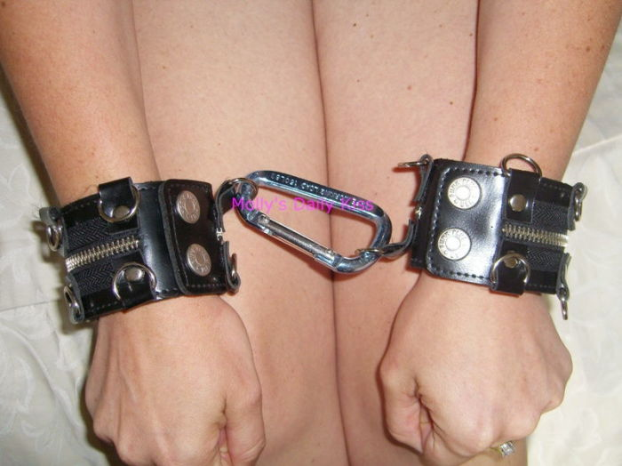 Shackled.