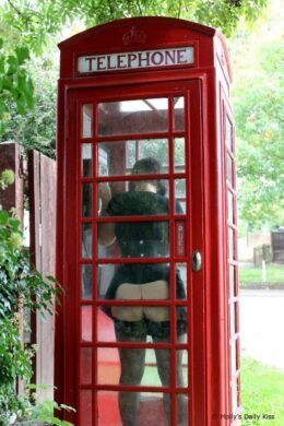 Masturbating in telephone box