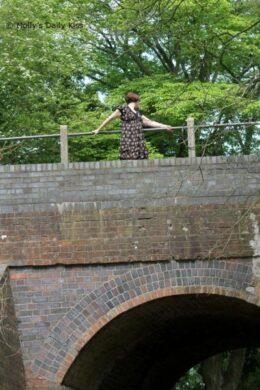 Pretty girl on a bridge
