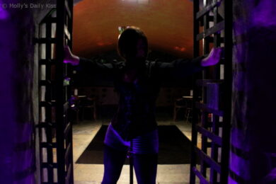 woman at the dungeon gates