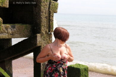 Topless on Hastings Beach
