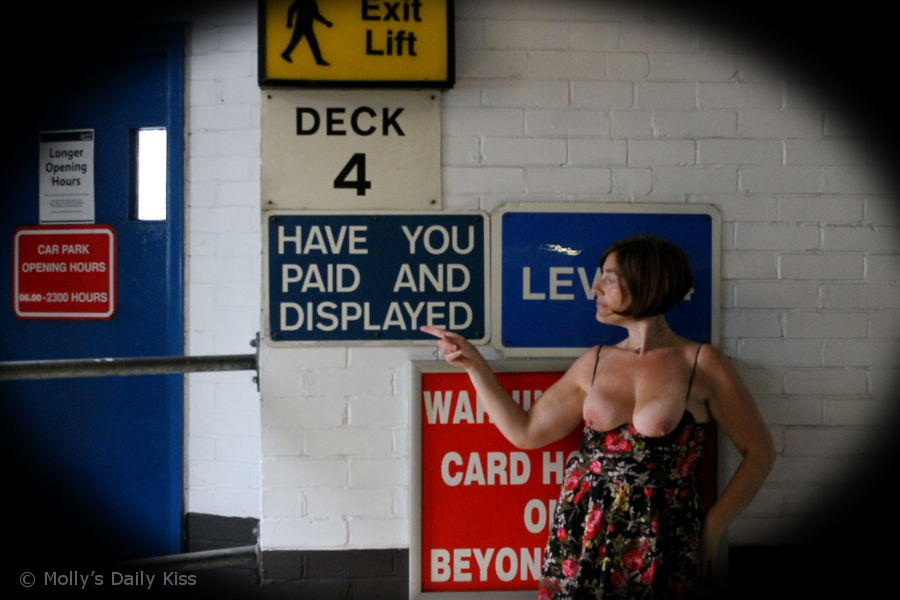 flashing boobs in car park hastings