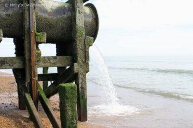 Storm Drain on Hastings beach