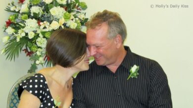 Weddding smiles for Molly Moore