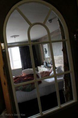 Through the window at The Bell Inn, Ticehurst