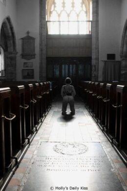 Flashing my bottom in church