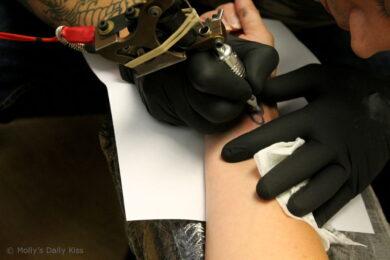 getting my tattoo