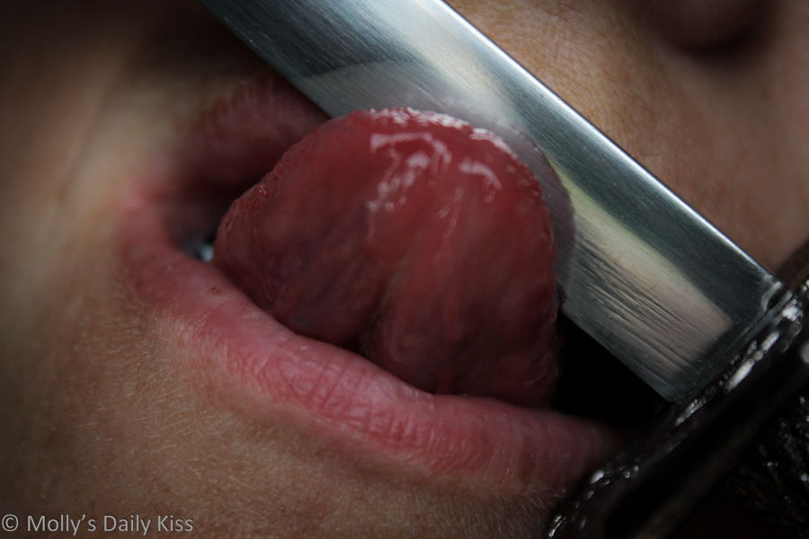 Licking the knife