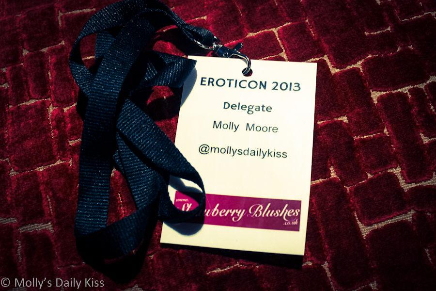 Eroticon 2013 Molly Moore delegate badge