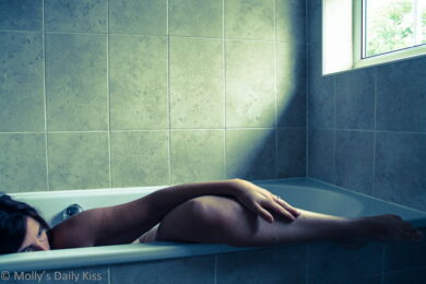 Laying in the bath thinking of you