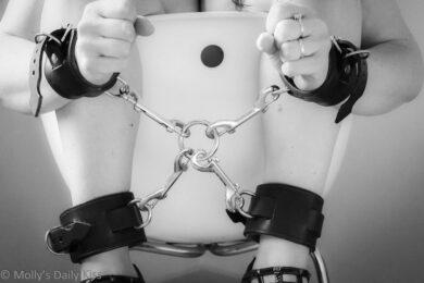 Woman hog tied
