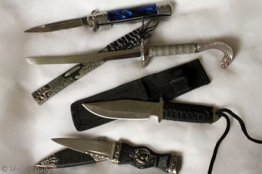 Selection of knives for Knife Play BDSM