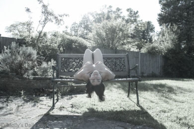 Upside naked woman
