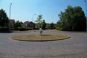 Waiting on the roundabout