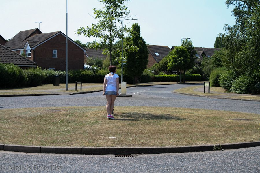 Standing on a roundabout