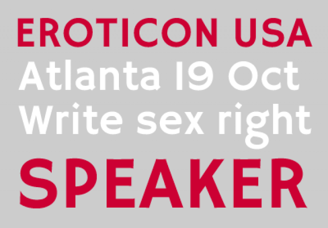 When Real Life and Sex Writing Collide – Eroticon USA