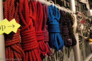 Coolured Hemp rope for bondage