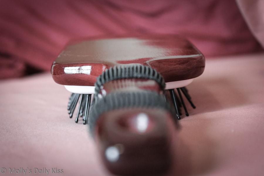 Hair brush for spanking