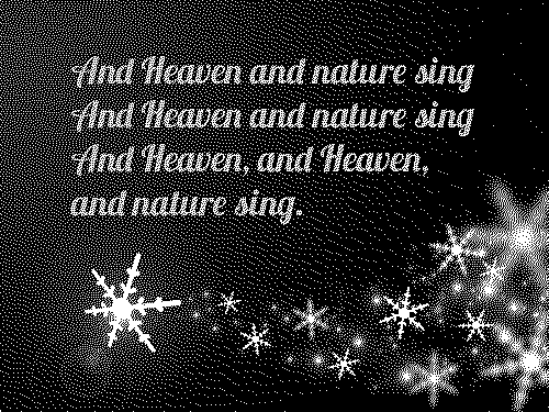 And heaven and nature sing lyrics