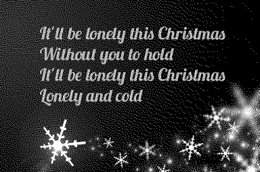 Lonely this Christmas lyrics