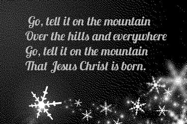 Go tell it on a mountain lyrics