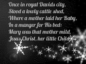 Once in Royal david City lyrics