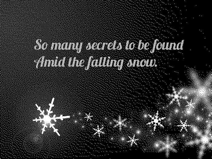 Amid the falling snow
