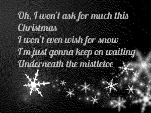 All I want for Christmas is you lyrics