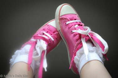 School girl sneakers and socks