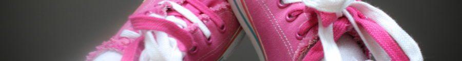 School girl sneakers and socks