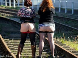 Close up of Molly and Rebel's bum