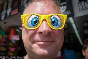 Funny eyeball glasses