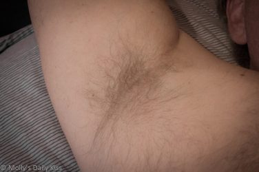 Close up shot of mans armpit