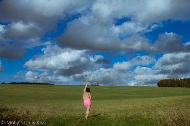 Standing beneath a big sky