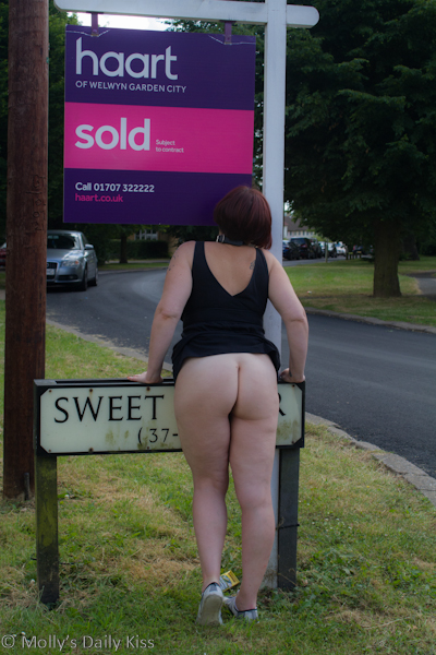 for sale sign with nude woman