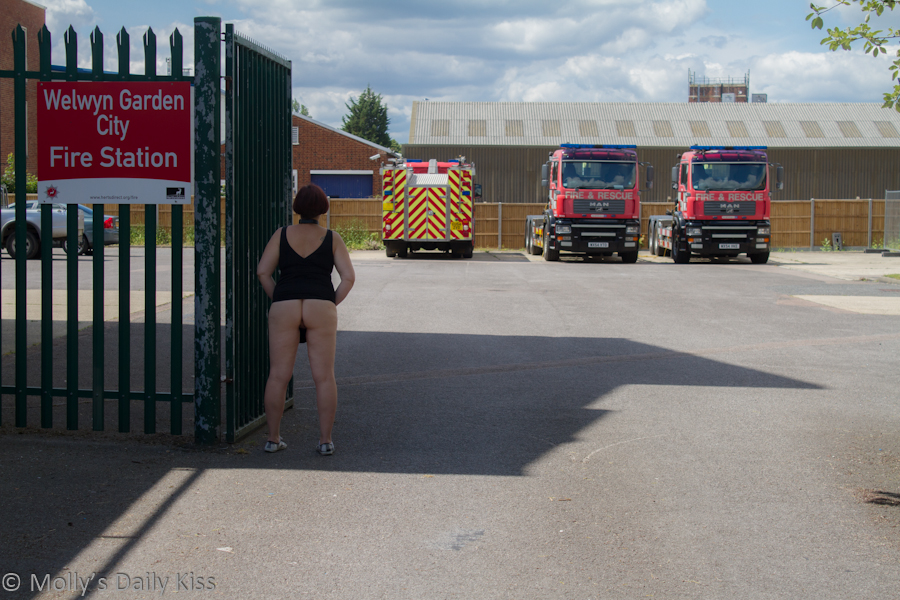 Flashing bum outside Fire Station