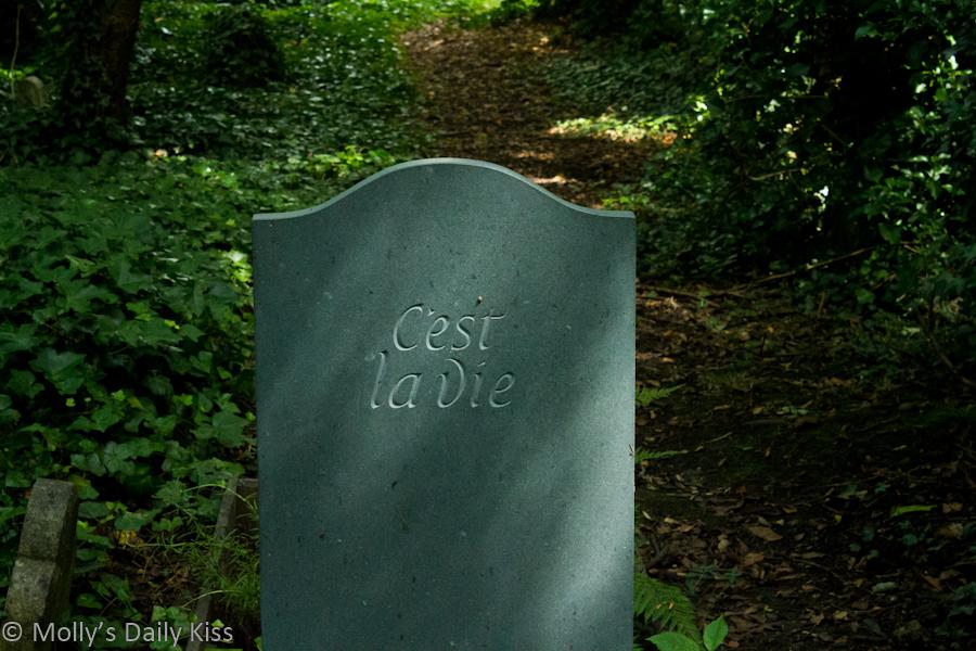 C'est la vie gravestone Highgate