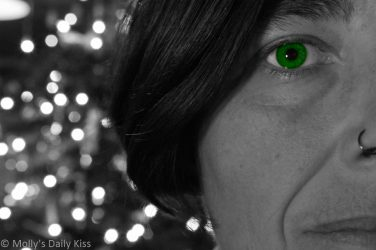 Green eye self portrait