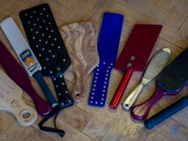 Selection of BDSM paddles