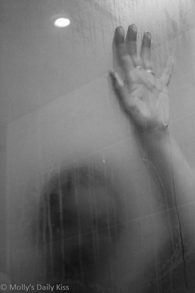 Scary figure in the shower