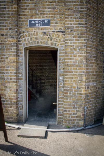 Doorway to Trinity Buoy Lighthouse London