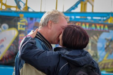 Molly Kissing Michael on Brighton Pier