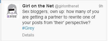 Screen Cap of Girl on the Net twitter