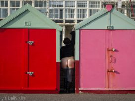 Flashing bottom by Beach Huts in Brighton