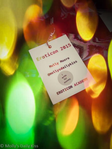 Molly's Eroticon 2015 Name badge