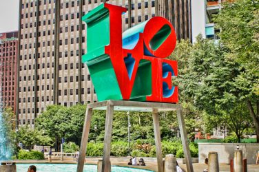 Love Statue in Philadelphia city
