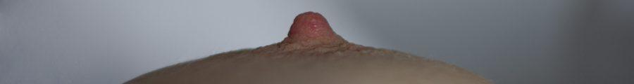 macro shot of Molly's nipple
