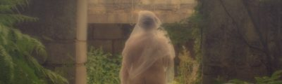 Ghostly nude woman in white