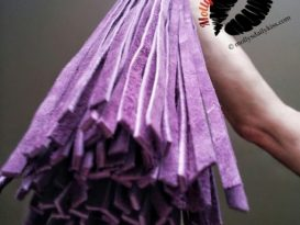 Rouge Garment Purple Suede Flogger from Bondage Bunnies