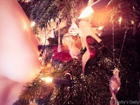 Molly's boobs in Christmas tree magic